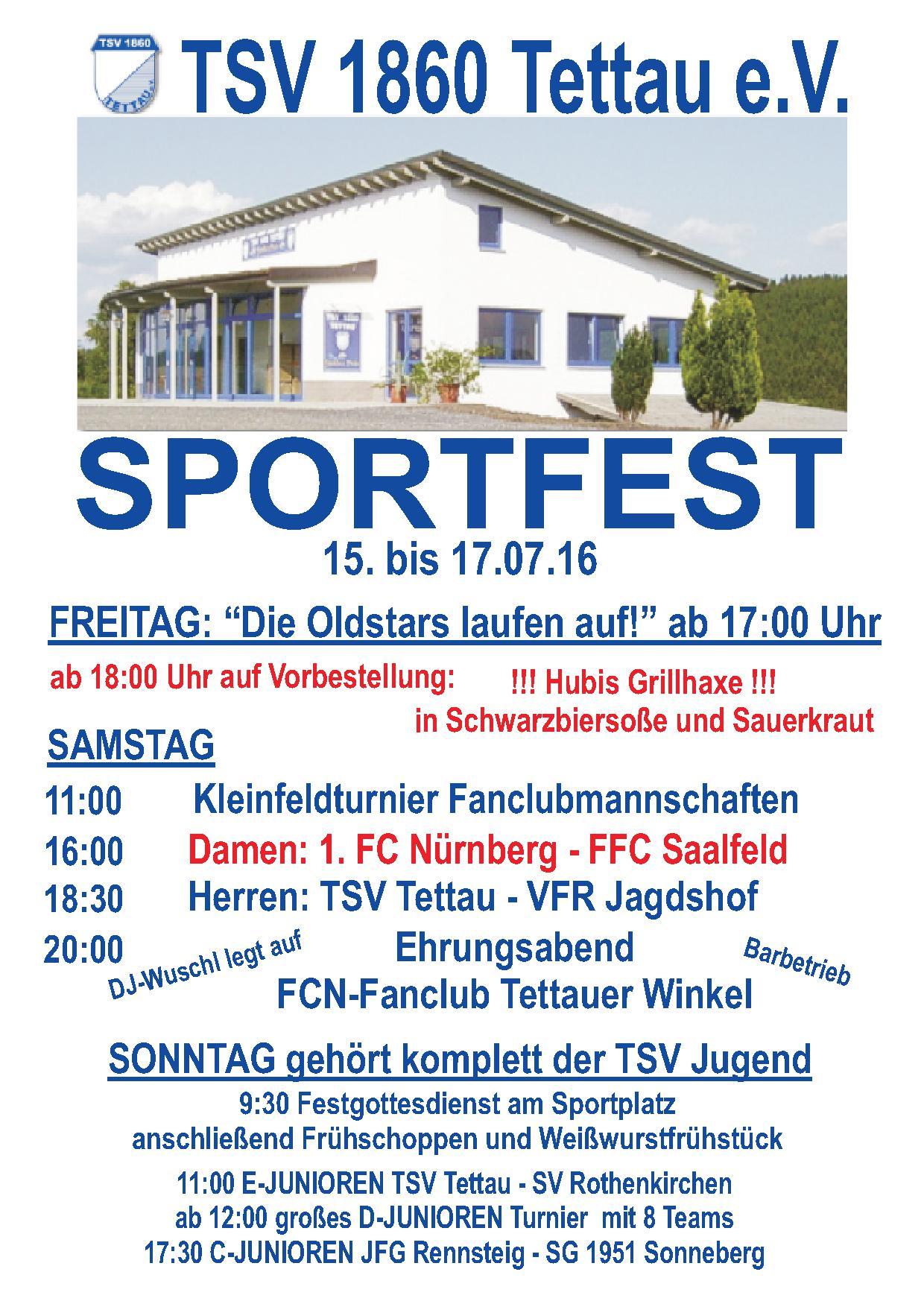 Sportfest 2016 – Programm